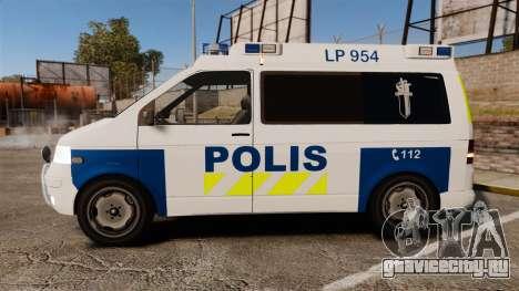 Volkswagen Transporter T5 TDI POLIISI [ELS] для GTA 4 вид слева