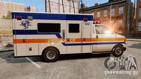 Brute CHMC Ambulance для GTA 4 вид слева