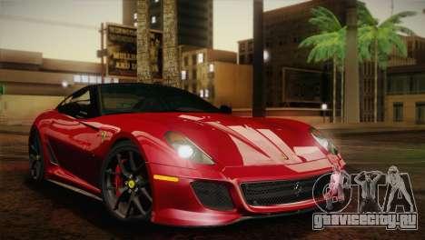 Ferrari 599 GTO 2011 для GTA San Andreas вид сзади слева