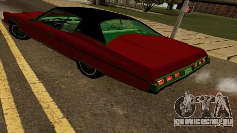 Chevrolet Caprice Coupe 1973 для GTA San Andreas вид сзади слева