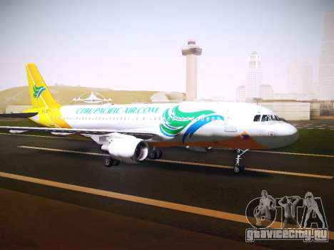 Airbus A320 Cebu Pacific Air для GTA San Andreas вид слева