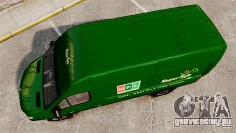 Mercedes-Benz Sprinter 2500 2011 Hungarian Post для GTA 4 вид справа
