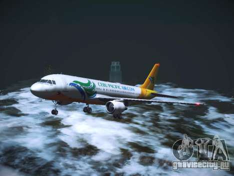 Airbus A320 Cebu Pacific Air для GTA San Andreas вид сверху