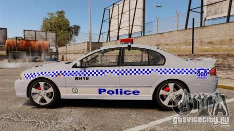 Ford Falcon XR8 Police Western Australia [ELS] для GTA 4 вид слева