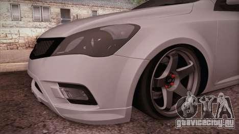 Kia Ceed 2011 SA Plates для GTA San Andreas вид справа