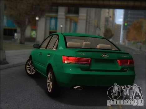 Hyundai Sonata 2009 для GTA San Andreas вид сзади