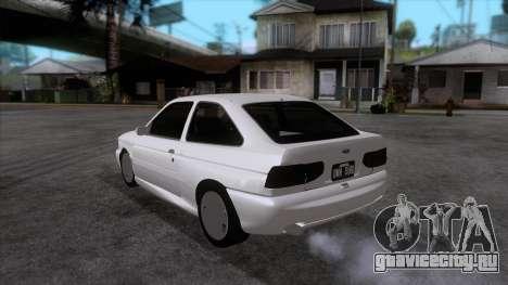 Ford Escort 1996 для GTA San Andreas вид сзади слева