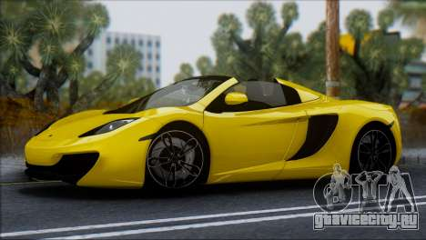 McLaren MP4-12C Spider для GTA San Andreas