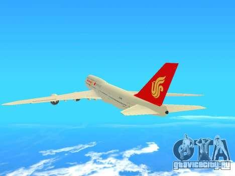 Boeing 747 Air China для GTA San Andreas вид сзади