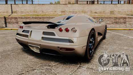 Koenigsegg CCX для GTA 4 вид сзади слева