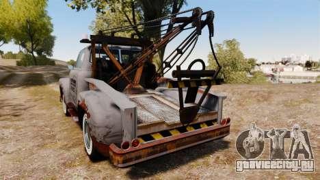 GTA IV TLAD Vapid Tow Truck для GTA 4 вид сзади слева