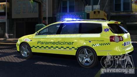 Volkswagen Passat Variant 2010 Paramedic [ELS] для GTA 4 вид слева