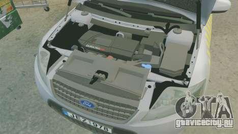 Ford Mondeo Hungarian Police [ELS] для GTA 4 вид изнутри