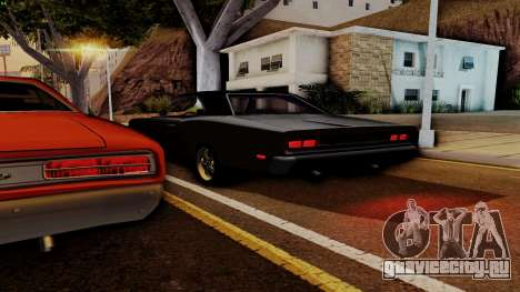 Dodge Coronet RT 1969 440 Six-pack для GTA San Andreas вид снизу