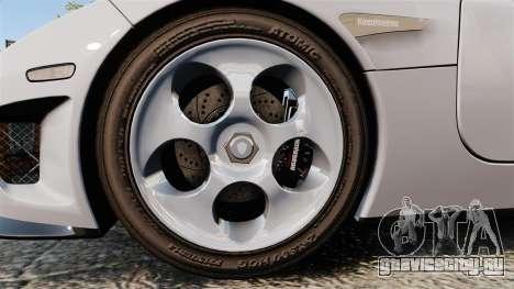 Koenigsegg CCX для GTA 4 вид сзади