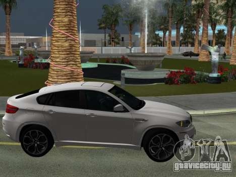 BMW X6M 2010 для GTA San Andreas вид сверху