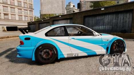 BMW M3 GTR 2012 Most Wanted v1.1 для GTA 4 вид слева