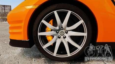 Nissan GT-R 2012 Black Edition NFS Underground для GTA 4 вид сзади