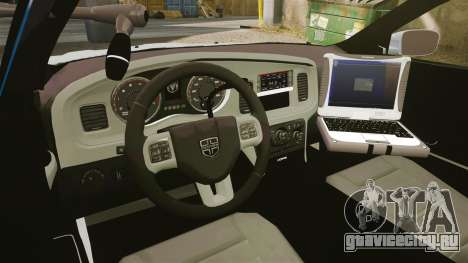 Dodge Charger 2011 LCPD [ELS] для GTA 4 вид сзади