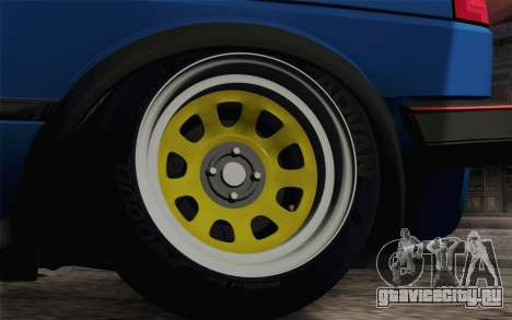 Volkswagen Golf MK2 LowStance для GTA San Andreas вид сзади