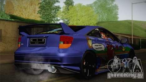 Toyota Celica Taz Mania Street Edition для GTA San Andreas вид сзади слева
