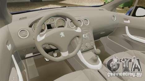 Peugeot 308 GTI для GTA 4 вид изнутри