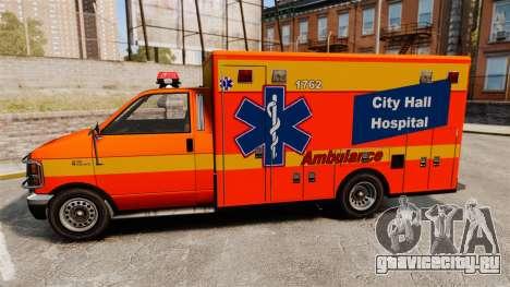 Brute CHH Ambulance для GTA 4 вид слева