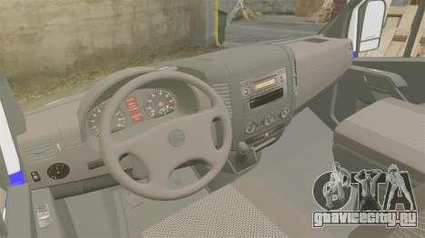Mercedes-Benz Sprinter Itella Logistics для GTA 4 вид сзади