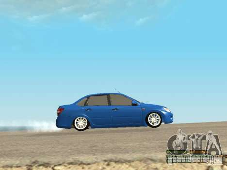 ВАЗ 2190 для GTA San Andreas вид сбоку