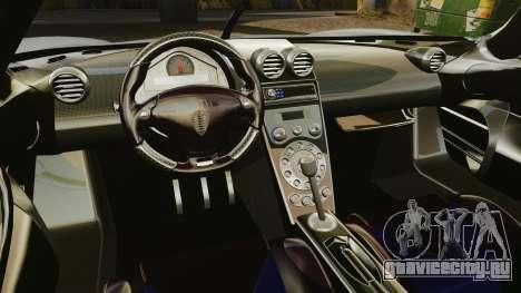 Koenigsegg CCX для GTA 4 вид изнутри