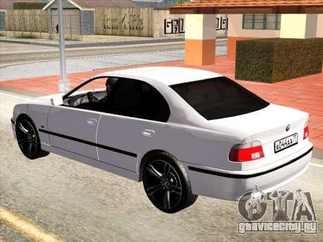 BMW 530d E39 для GTA San Andreas вид сзади слева