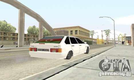 ВАЗ 2114 Avtosh для GTA San Andreas вид изнутри