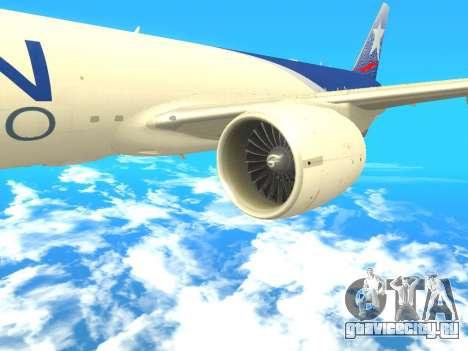 Boeing 777 LAN Cargo для GTA San Andreas вид справа