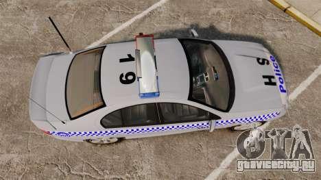 Ford Falcon XR8 Police Western Australia [ELS] для GTA 4 вид справа