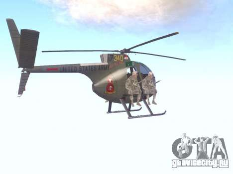 OH-6 Cayuse для GTA San Andreas вид справа