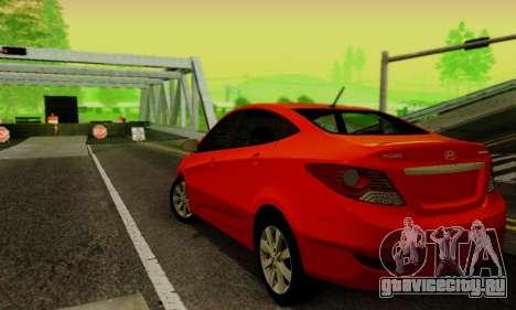 Hyndai Solaris для GTA San Andreas вид сзади