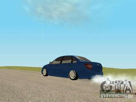 ВАЗ 2190 для GTA San Andreas вид изнутри