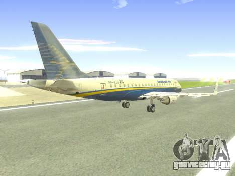 Embraer 175 HOUSE для GTA San Andreas вид сверху