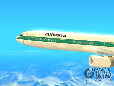 McDonnell Douglas MD-11 Alitalia для GTA San Andreas вид слева