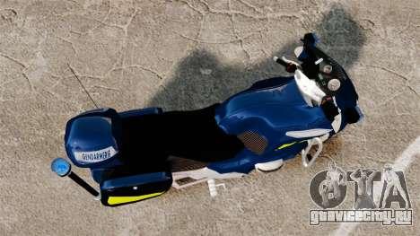 BMW R1150RT Gendarmerie [ELS] для GTA 4 вид справа