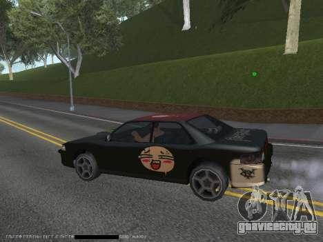 Винилы для Sultan для GTA San Andreas вид сзади