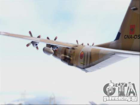 C-130 Hercules Royal Moroccan Air Force для GTA San Andreas вид сзади