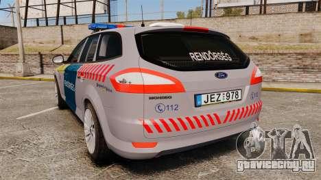 Ford Mondeo Hungarian Police [ELS] для GTA 4 вид сзади слева