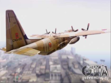 C-130 Hercules Royal Moroccan Air Force для GTA San Andreas вид справа