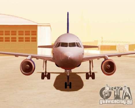 Airbus A320-200 Аэрофлот для GTA San Andreas вид слева