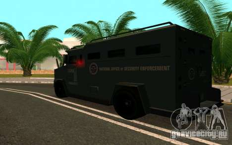 GTA V Police Riot для GTA San Andreas вид сзади