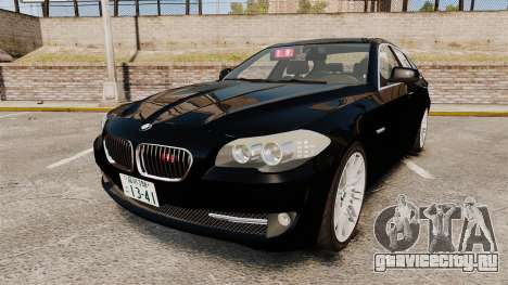 BMW M5 F10 2012 Japanese Unmarked Police [ELS] для GTA 4