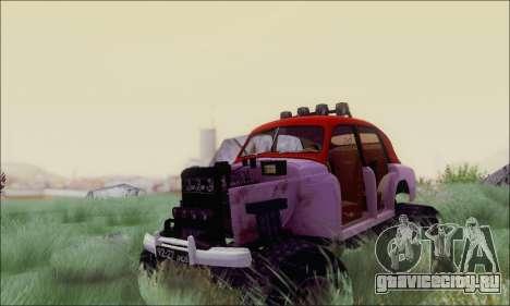 ГАЗ М20 Монстр для GTA San Andreas вид сзади
