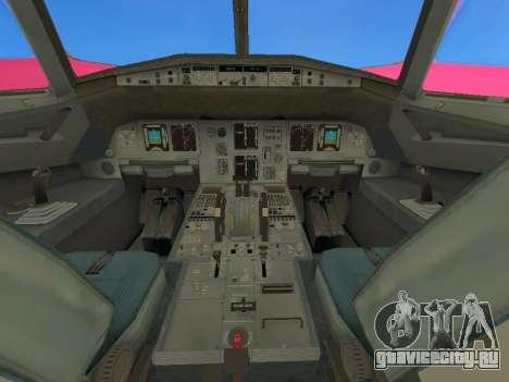 Airbus A320-200 WizzAir для GTA San Andreas вид изнутри
