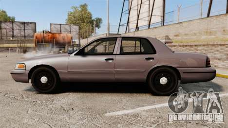 Ford Crown Victoria 2008 LCPD Detective [ELS] для GTA 4 вид слева